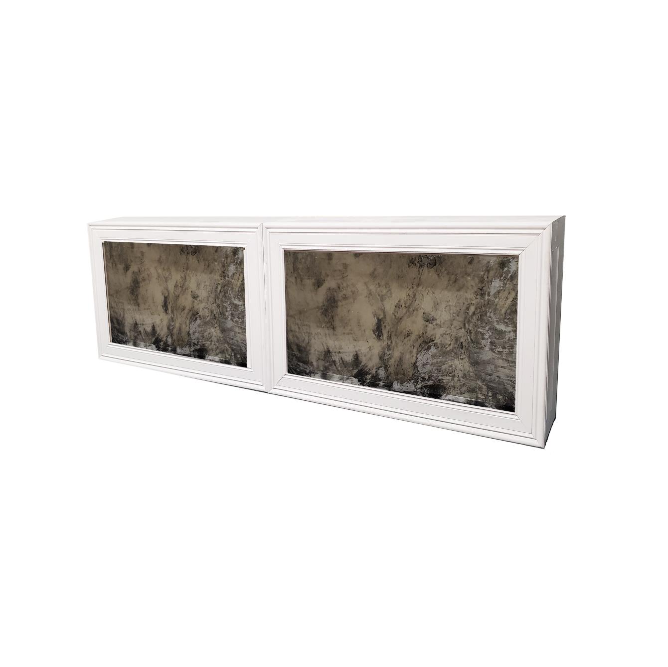 Double White Frame/Vintage Mirror $500