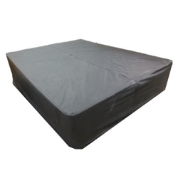 Black Leather Bed/Ottoman $400
