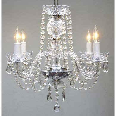 5- Light Crystal Chandelier $100