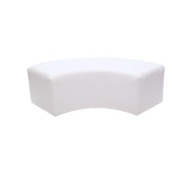 Elbow Ottoman White - $100