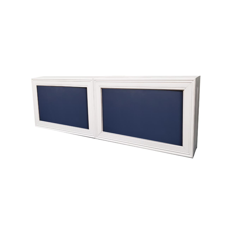 Double White Frame/Navy Insert $500