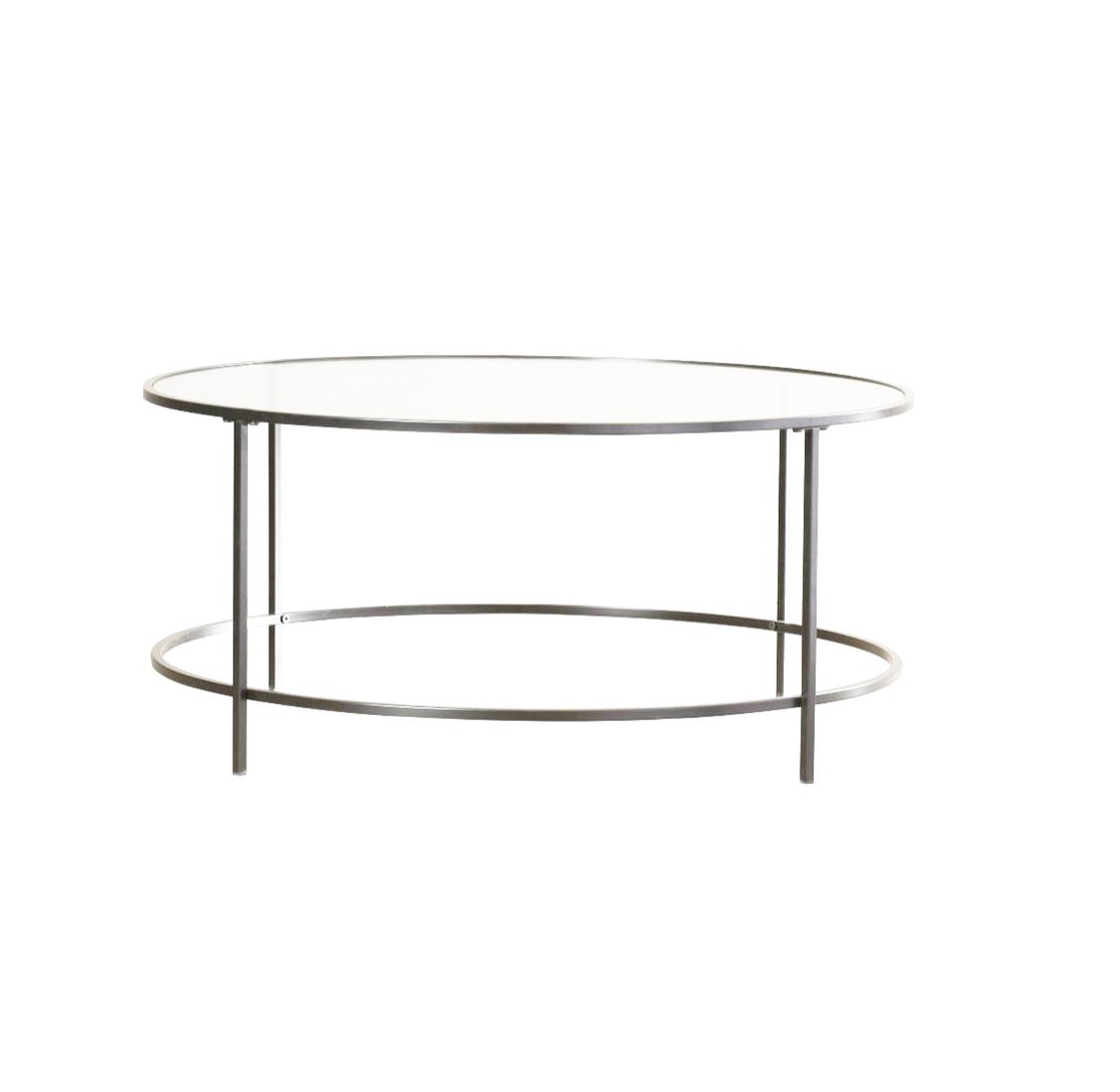 Silver Dean Glass Coffee Table $75