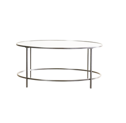 Silver Dean Glass Coffee Table