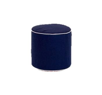 Navy Round Slipcover Ottoman $40