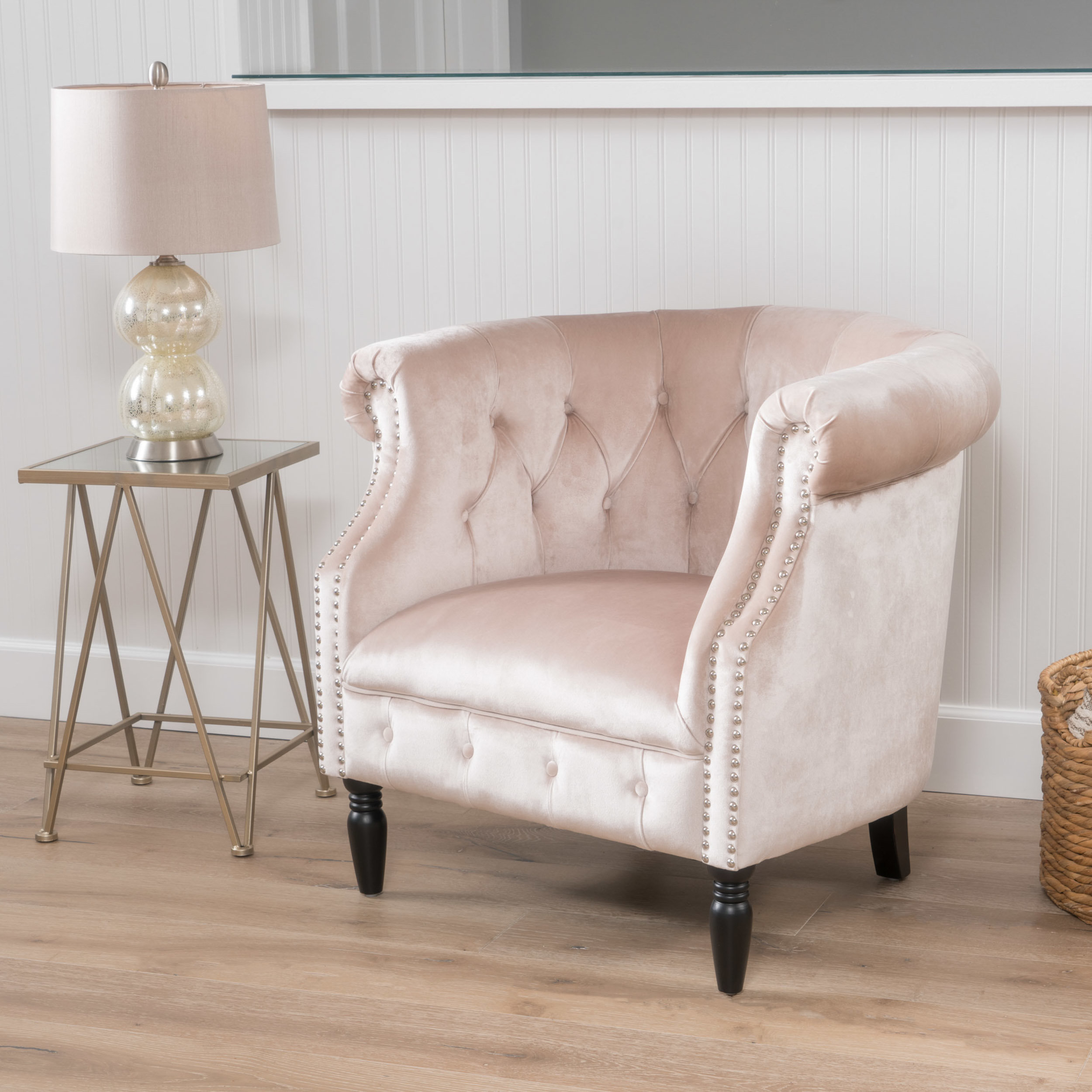 Blush Pink Arm Chair