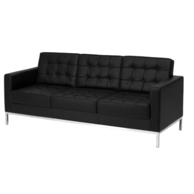 Tailor Sofa Black Leather $250