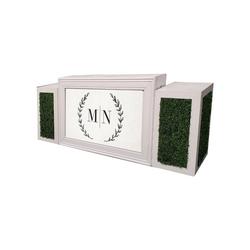 White Frame/Custom Insert with Hedge Pedestals  $350
