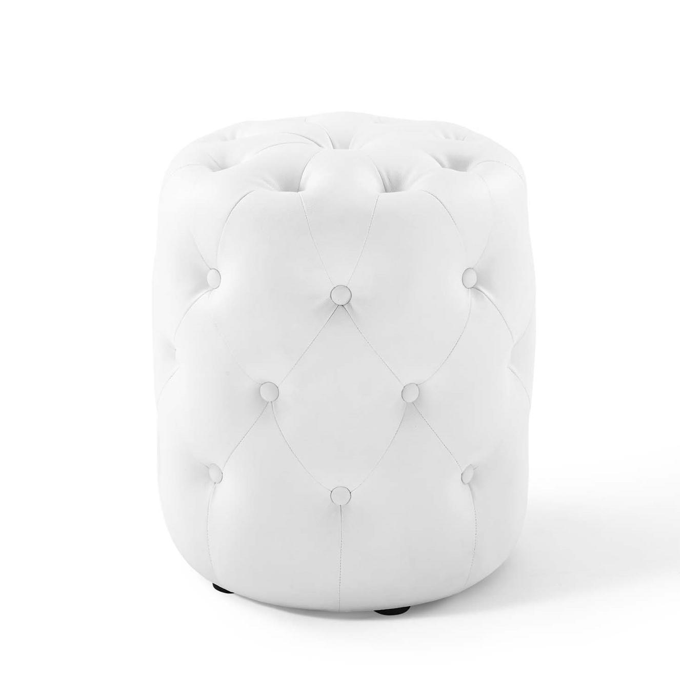 White Leather Rd. Ottoman - $40