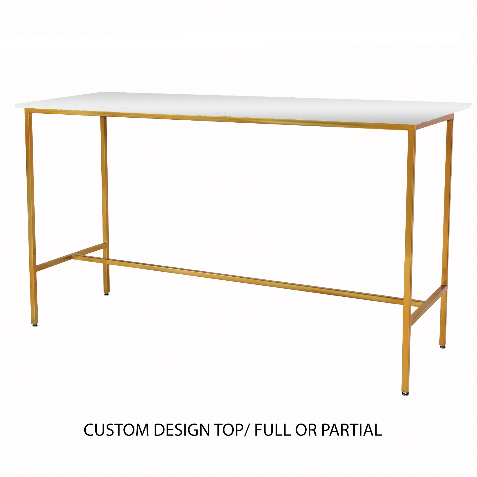 Custom Top/Gold Taylor Communal Table  $200