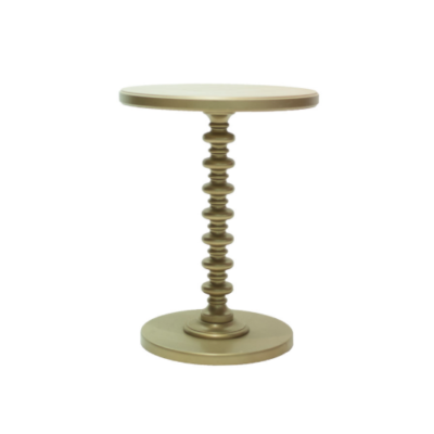 Kenzie Gold Side Table $30