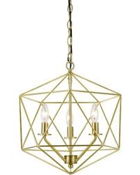 Large Gold Geometric Chandelier $100