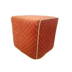Orange Slipcover Ottoman $40