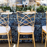 Setting with our Empire Gold Chairs