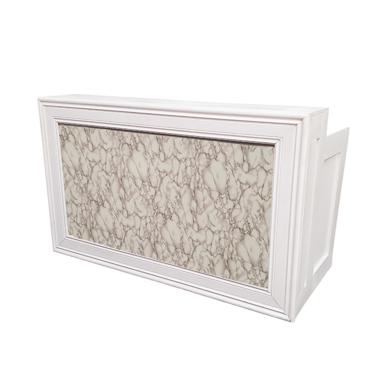 White Frame/Marble Insert $250