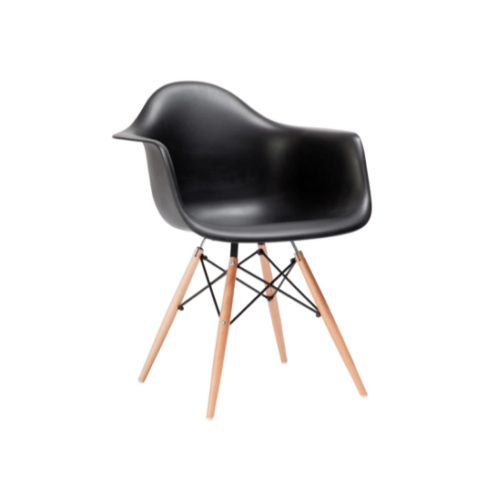 Black Modern Shell Chair