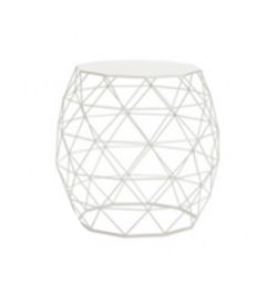Mia White Side Table