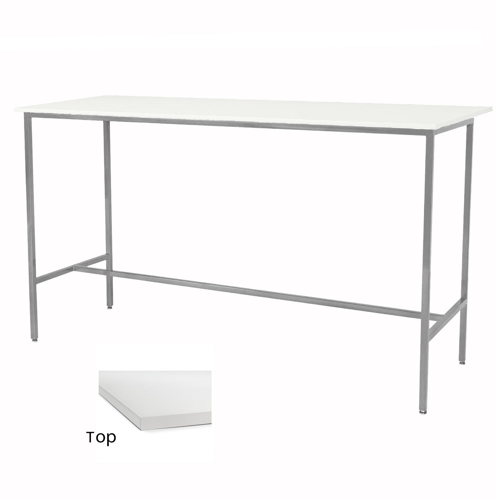 White/Silver Taylor Communal Table