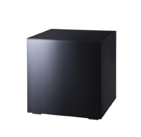 Mirror Black Cube Side Table $50