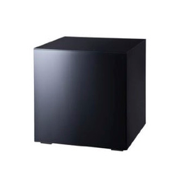 Mirror Black Cube Side Table