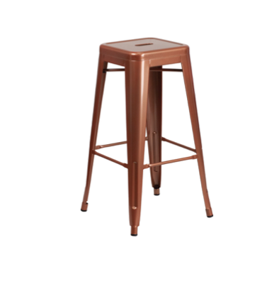 Copper Metal Bar Stool