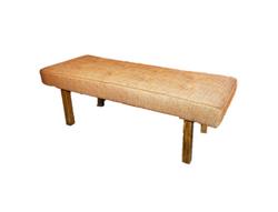 Orange Tweed Bench $40