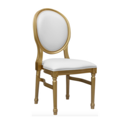 Gold and White King Louis Chair