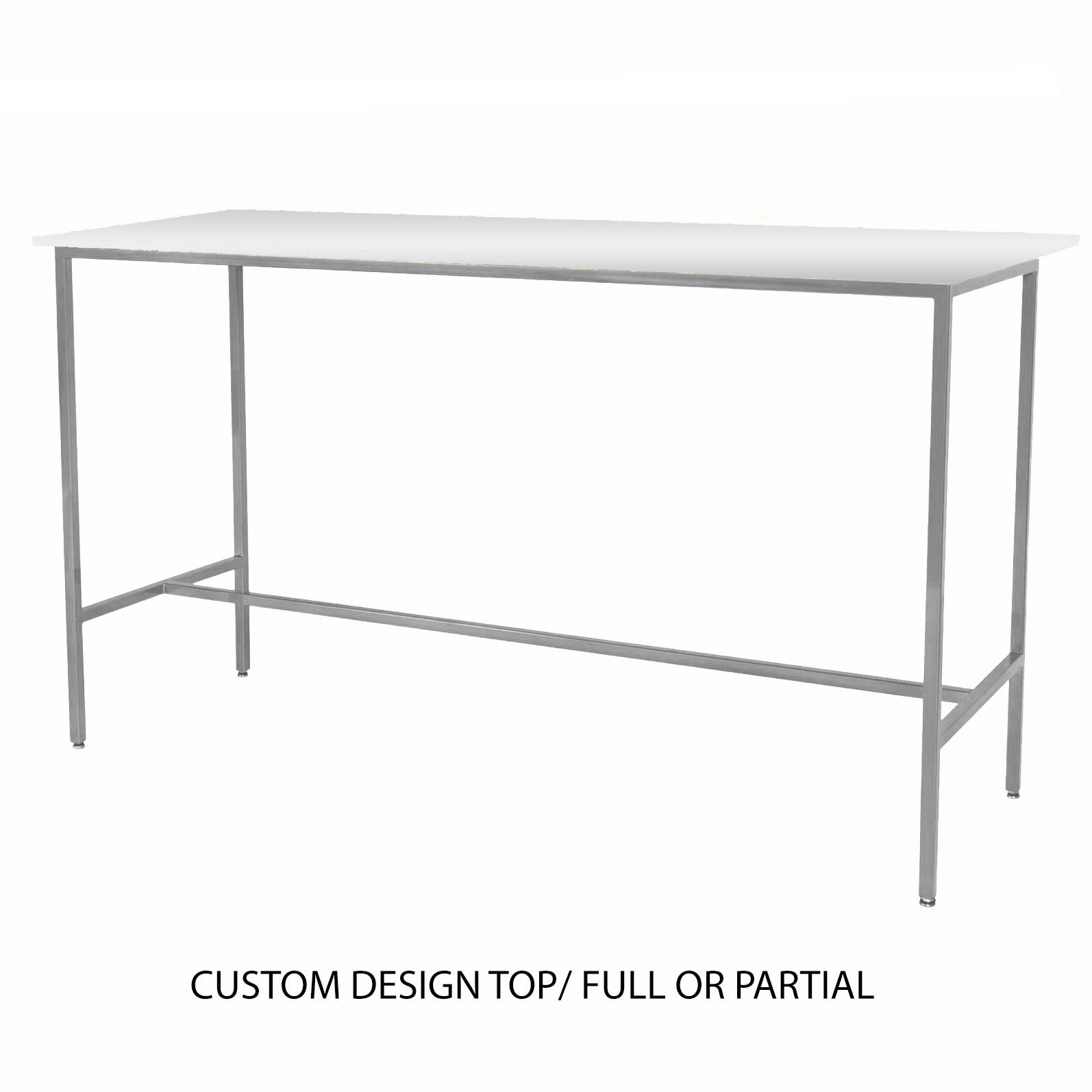 Custom Top/Silver Taylor Communal Table  $200