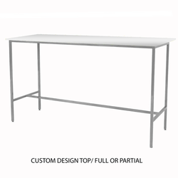 Custom Top/Silver Taylor Communal Table
