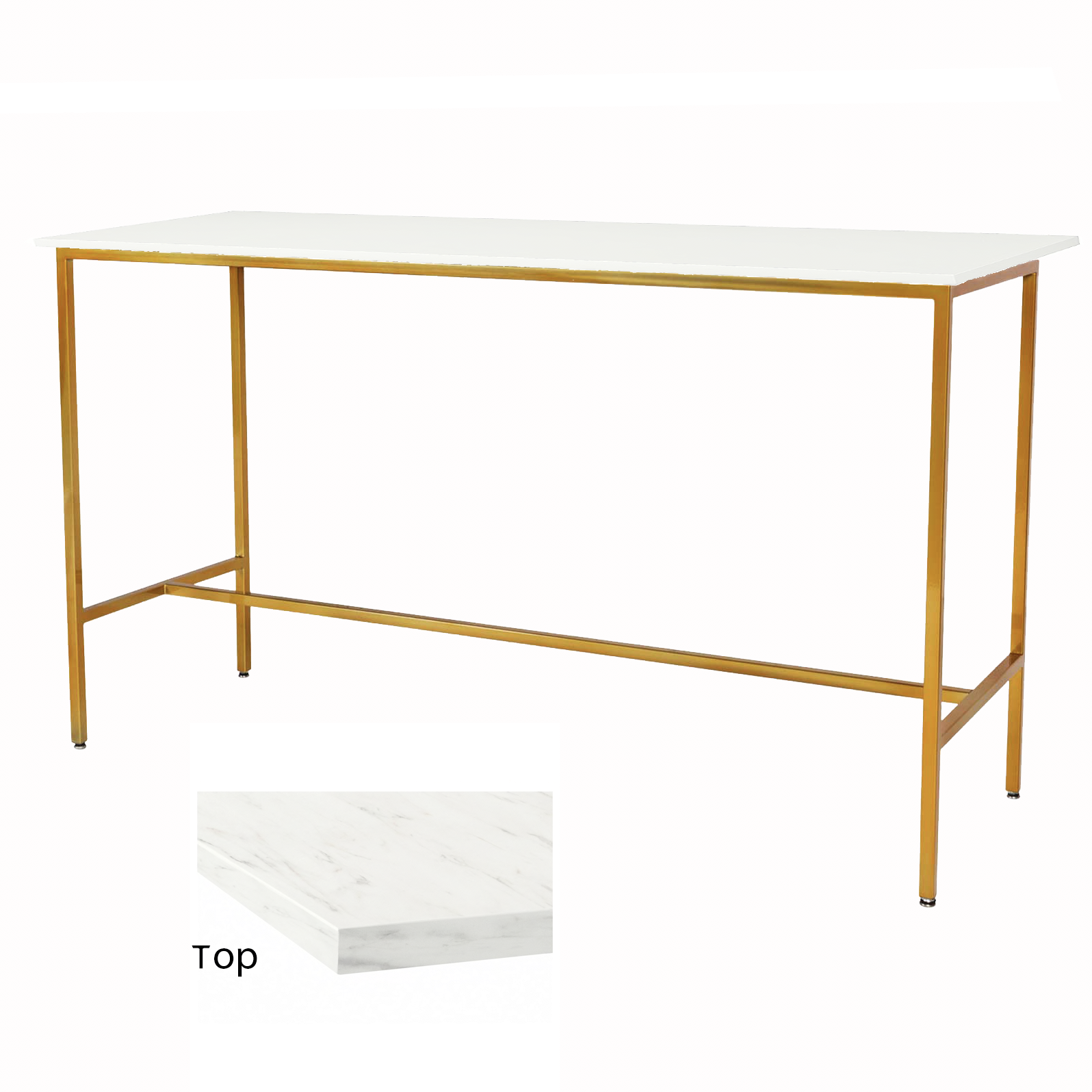 Marble/Gold Taylor Communal Table  $100