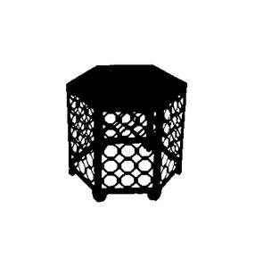 Hexagon Black Side Table  $20