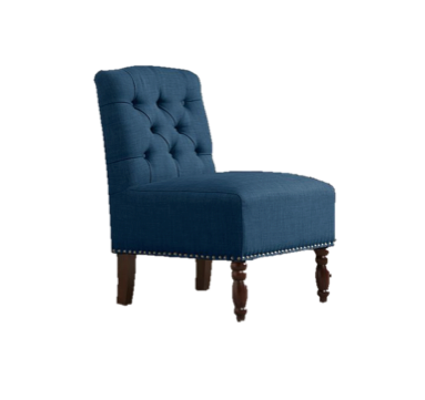 Chloe Navy Tufted Chair