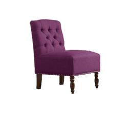 Chloe Plum Tufted Chair