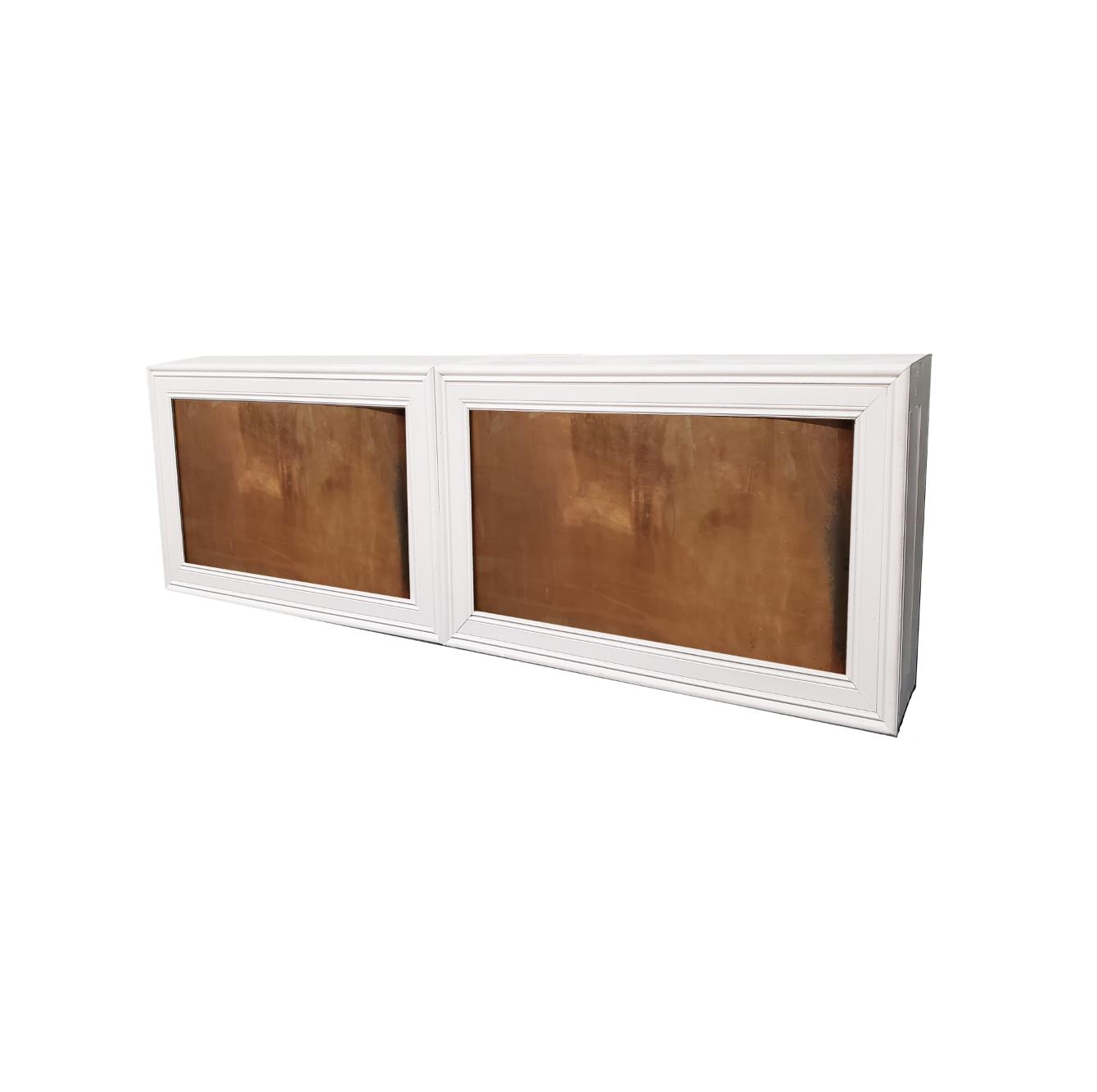 Double White Frame/Copper Insert $500