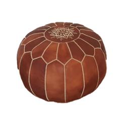 Tan Moroccan Pouf $40