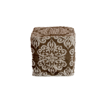 Mocha Damask Slipcover Ottoman $40