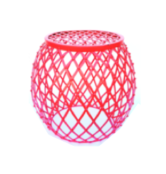 Coral Diamond Hatch Side Table