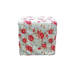 Floral Slipcover Square Ottoman $40
