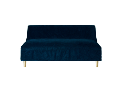 Boutique Navy Slipcover Sofa $175