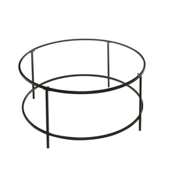 Black Glass Dean Coffee Table