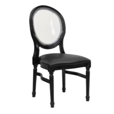 Black King Louis Chair