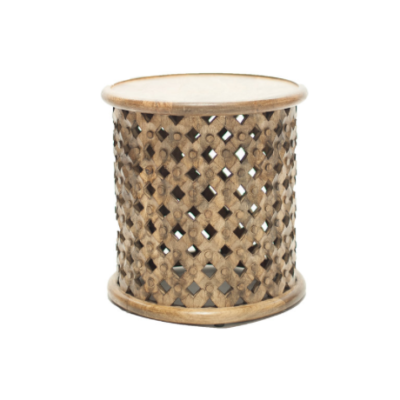 Caleb Carved Side Table