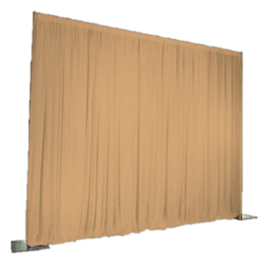 Gold Sheer Event Drape Per Foot $10