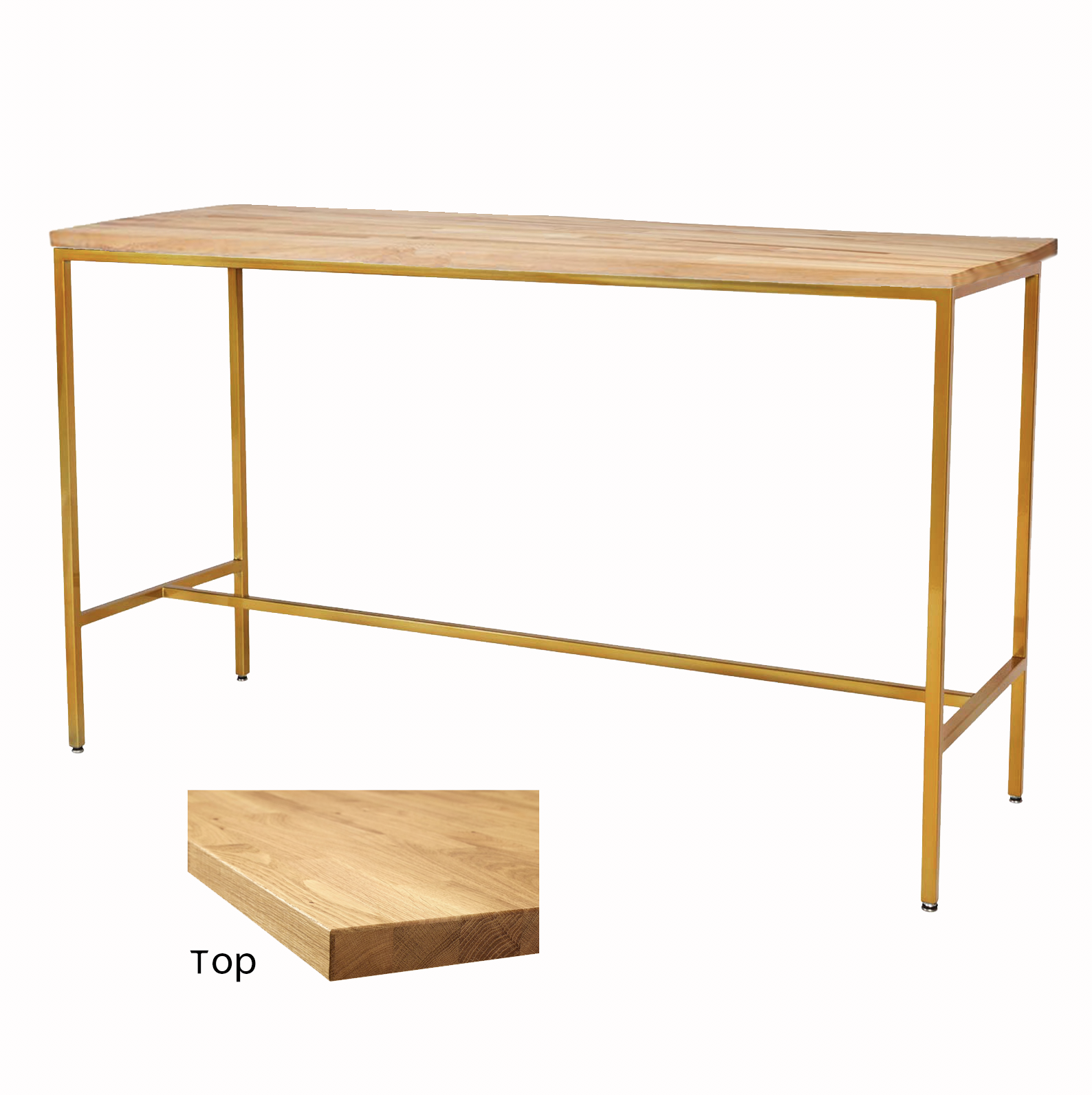 Wood/Gold Taylor Communal Table  $100