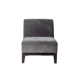 Theory Grey Armless Chair
