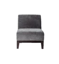 Theory Grey Armless Chair