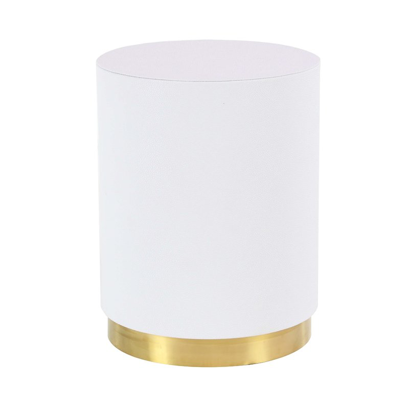 White and Gold Drum $35