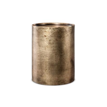 Bronze Gold Hammered Side Table $30