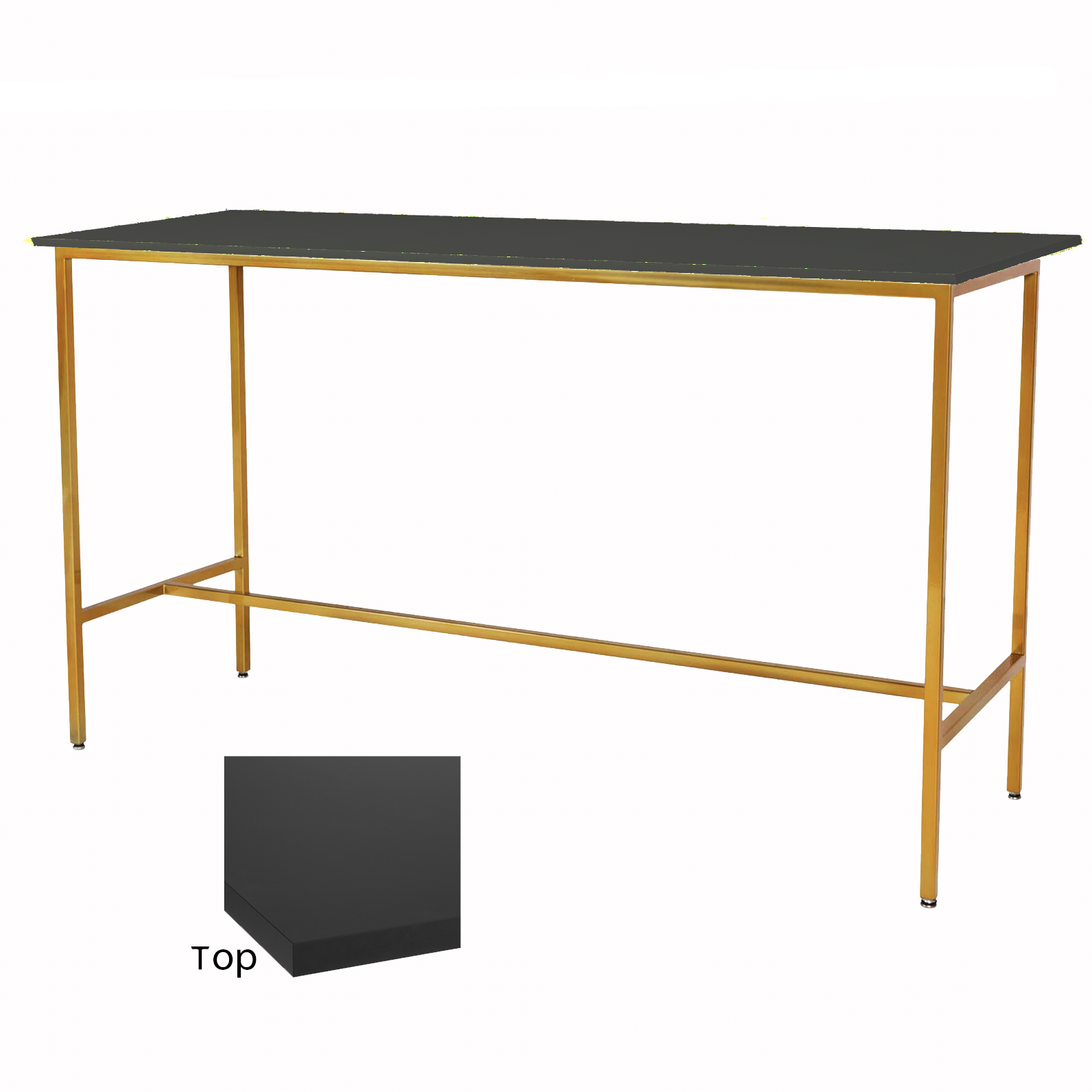 Black/Gold Taylor Communal Table  $100