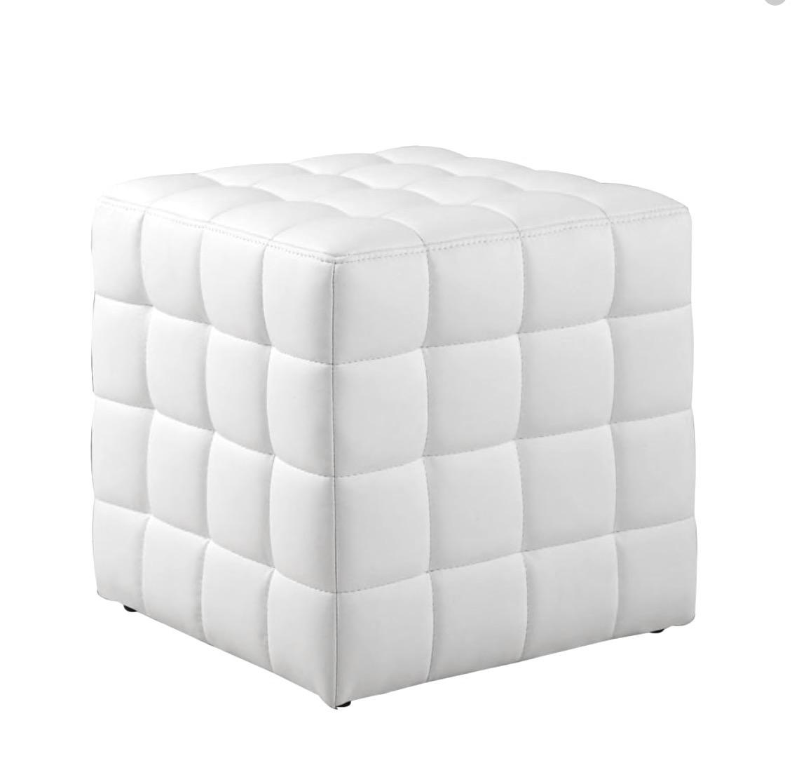 White Mod Ottoman - $40
