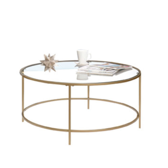 Gold Glass Dean Coffee Table